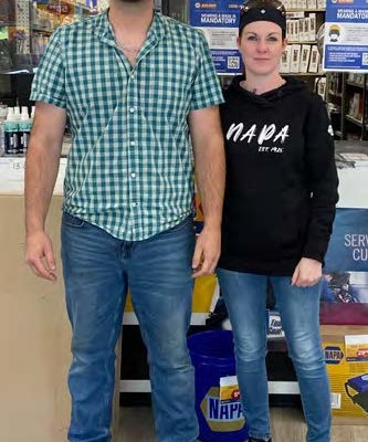 MANAGER, JOSH WEST, EMPLOYEE KIM RICHARDSON FROM THE MINTO STORE.