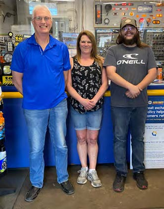 OWNER, PAUL MCKENELLEY, AND EMPLOYEES SUSAN MURRAY AND JAKE CRAWFORD AT THE CHIPMAN NAPA STORE.