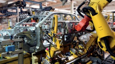 Car being built in the factory